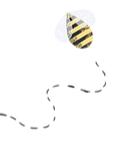 Hình minh họa con ong cách tân
