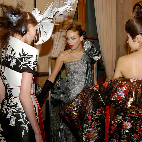 Backstage Yumi Katsura /                    Paris Fashion Week