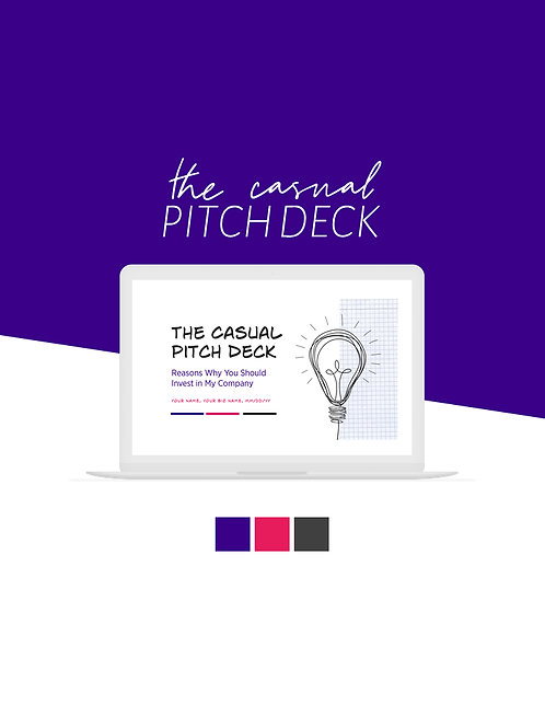 The Casual Pitch Deck (Pink & Purple)