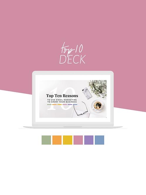 Top Ten Deck (Soft Colors)