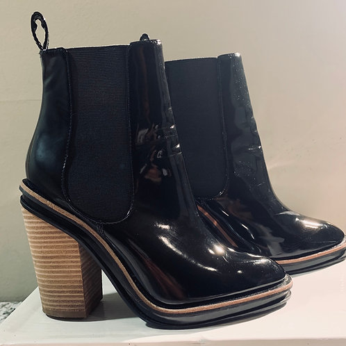 Patent Leather Bootie Boot