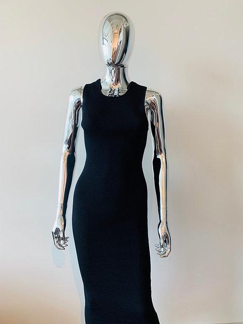 Ribbed Backless Dress
