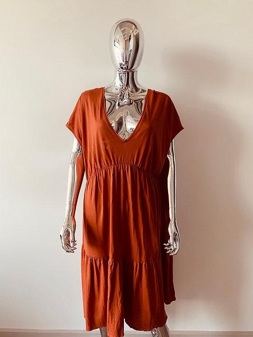 Burnt orange oversized dress