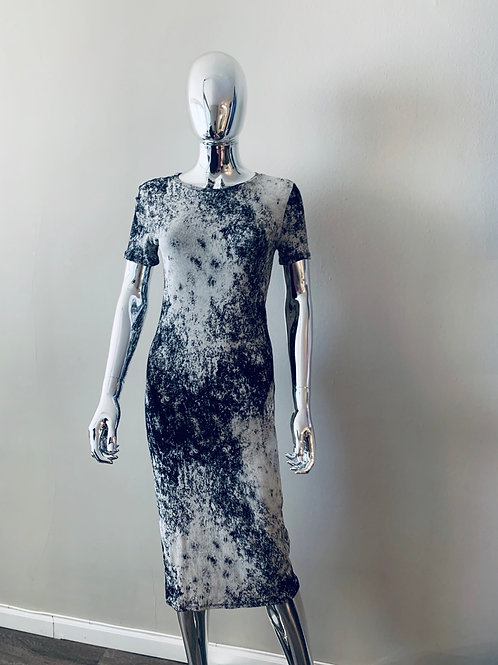 Abstract Midi dress