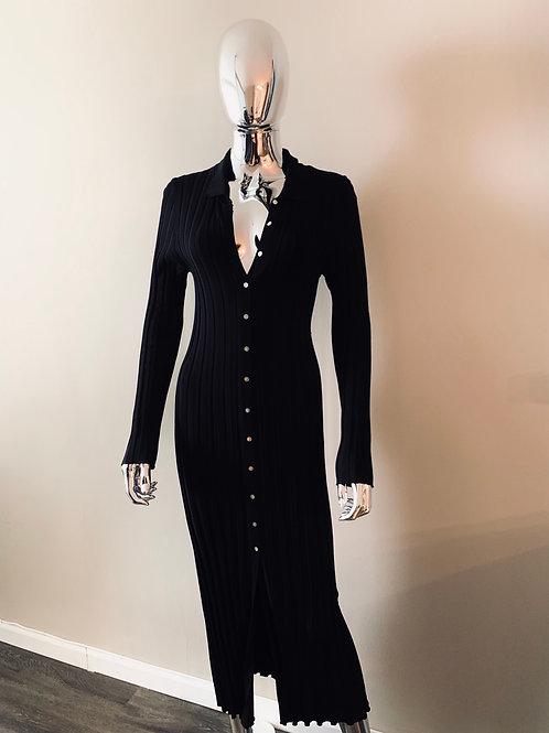 Zara black ribbed dress