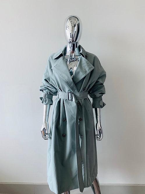 Mint Trench Coat