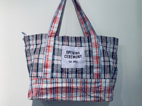 Opening Ceremony Plaid Tote
