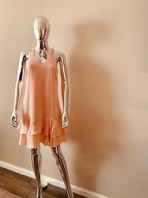 Peach colored racerback dress