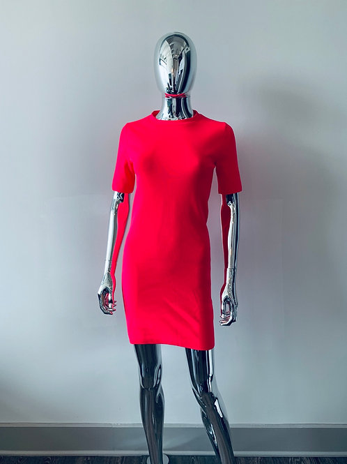 Neon Pink Midi Dress