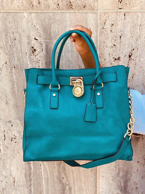 Large Turquoise Michael Kors Tote Bag