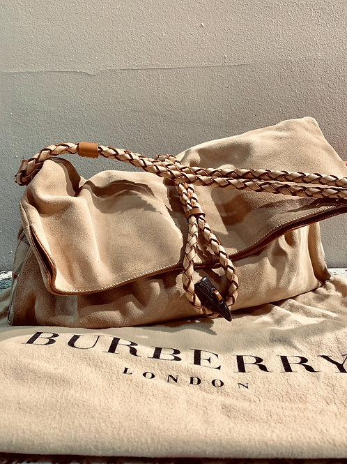 Burberry Suede Handbag
