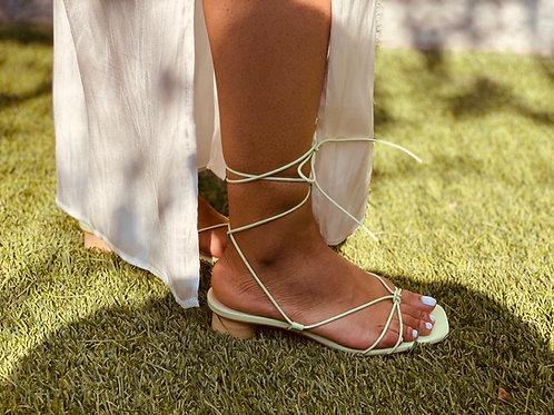 Mint Green Tie Up Sandals