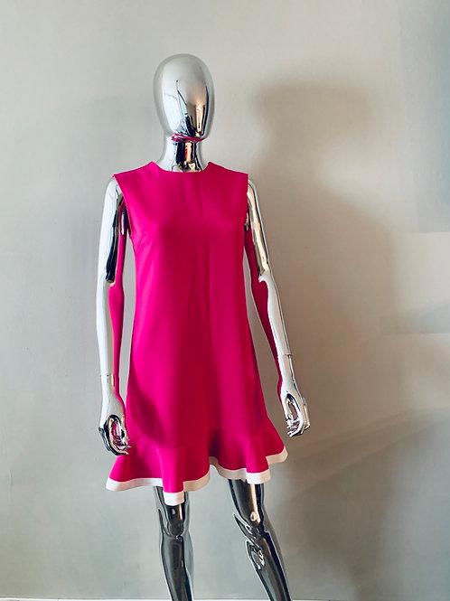 Victoria Beckham for Target Hot Pink/White Trimmed Dress