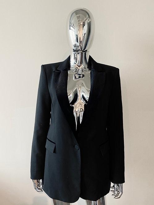 Black Blazer w/ velvet detail