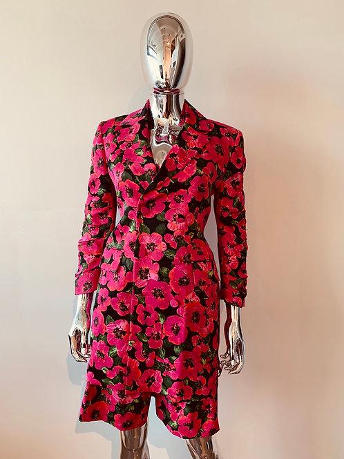 Belted Floral Short Set