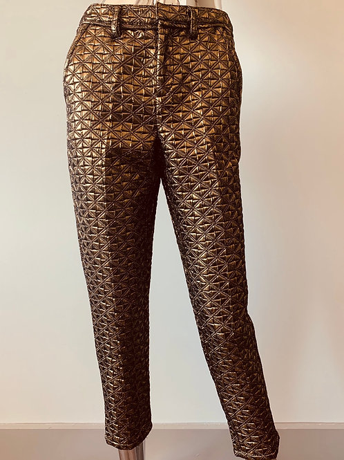 Gold Quilted Trousers