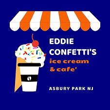 Eddie Confetti Ice Cream Logo