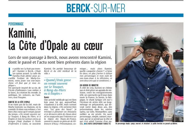 Article de presse Kamini au Familia