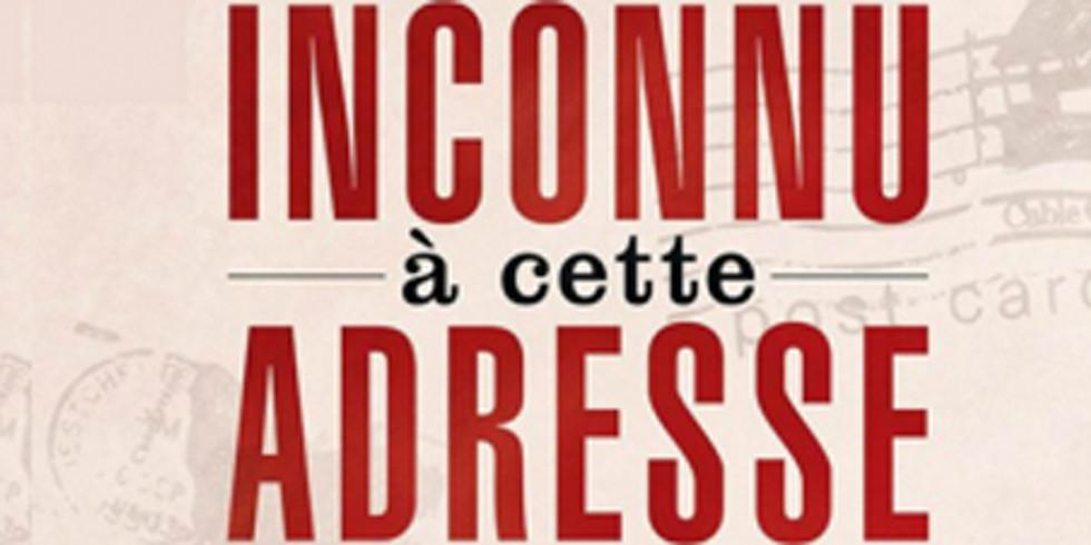 INCONNU A CETTE ADRESSE