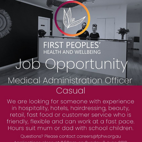 Job opportunity: Medical Administration Officer (casual)