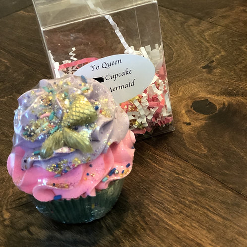 Mermaid Bath Bomb Cupcake