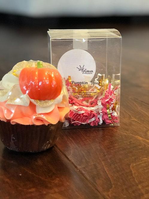 Pumpkin Spice Bath Bomb Cupcake