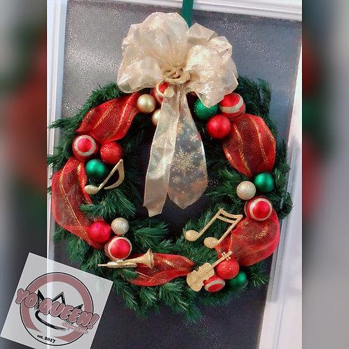 Love Of Music Christmas Wreath