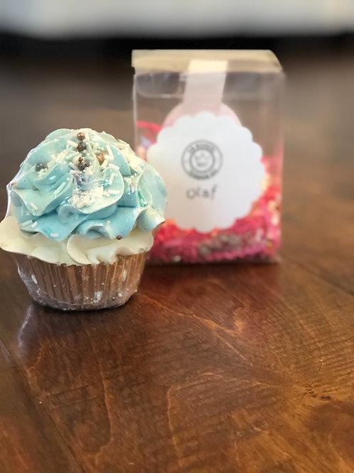 Olaf Bath Bomb Cupcake