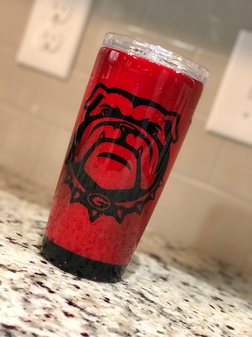 Georgia Bulldog 20oz Tumbler