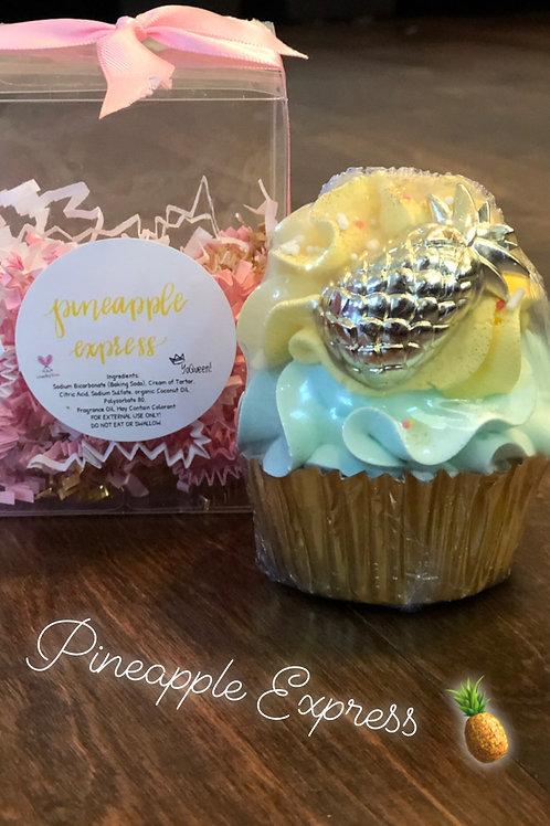 Pineapple Express Bath Bomb Cupcake