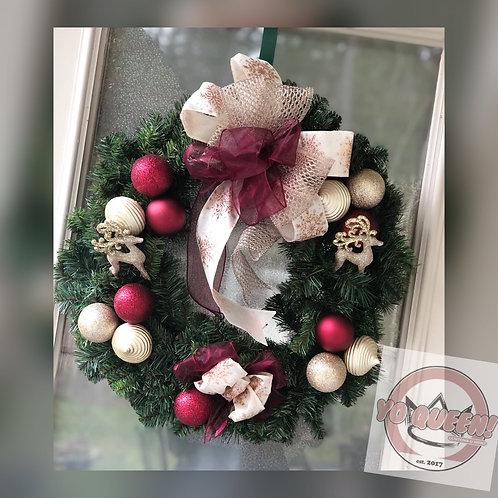 Reindeer Crossing Wreath