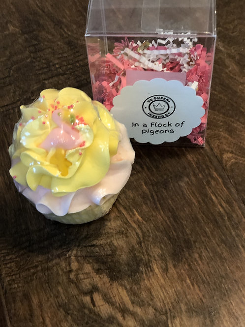 In A Flock Of Pigeons Bath Bomb Cupcake