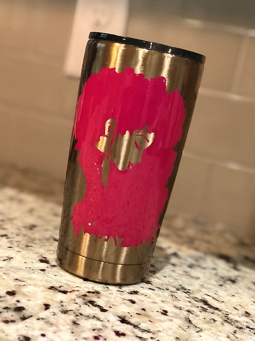 Lady With Africa Shaped Hair 20oz Tumbler