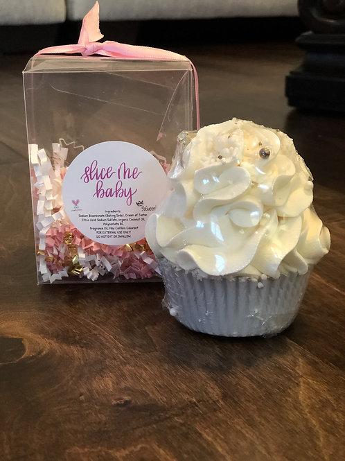Slice Me Baby  Bath Bomb Cupcake