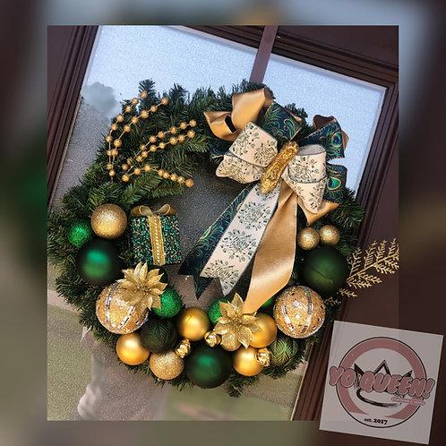 Peacock Inspired Wreath