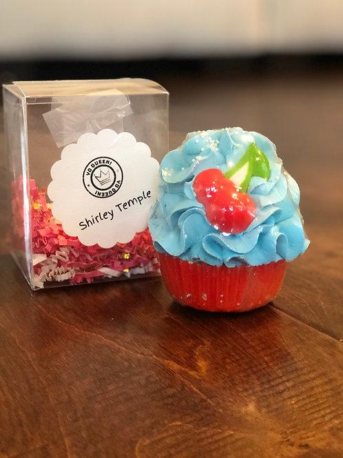 Shirley Temple Bath Bomb Cupcake