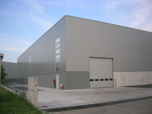 painel de fachada para centro logíst