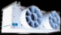 evaporador, evaporadores, unidade evaporadora, evaporador de alto perfil, evaporador de alta vazão, evaporador de média vazão, evaporador para sala de manipulação, forçador de ar, forçador de ar alta vazão, evaporador baixo perfil