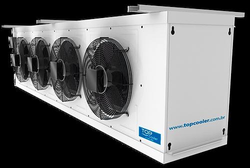 evaporador, evaporador para câmara fria, evaporadores, evapordor alto perfil, evaporador para túnel de congelamento, degelo em evaporador, evaporador com ventladores EC, evaporador de alta vazão, forçador de ar, forçador de ar para câmara fria, ventiladores para evaporadores, evaporador comdegelo à gás quente