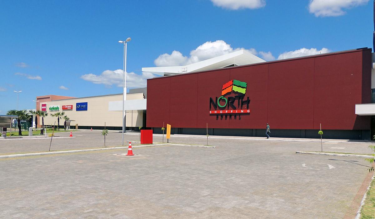 painel de fachada North Shopping