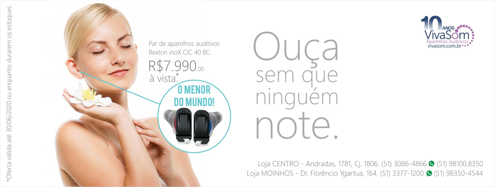 Menor aparelho auditivo do mundo
