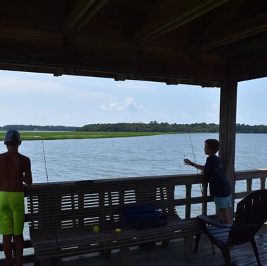 Resident Children On Community Dock