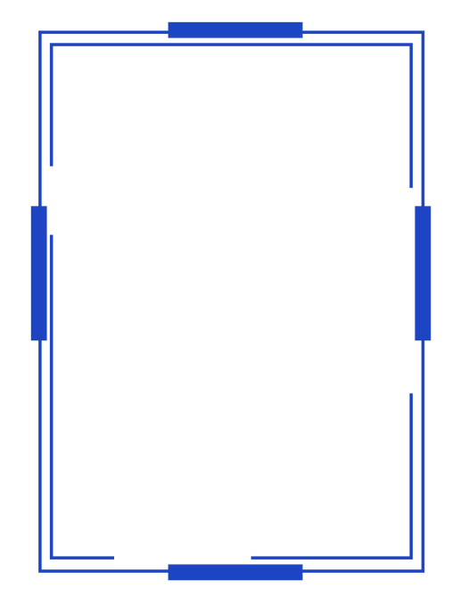—Pngtree—blue square  frame frame_396276