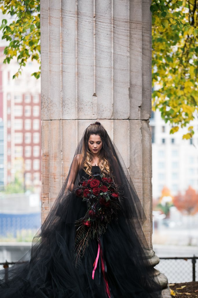 Romantic Halloween Wedding Shoot