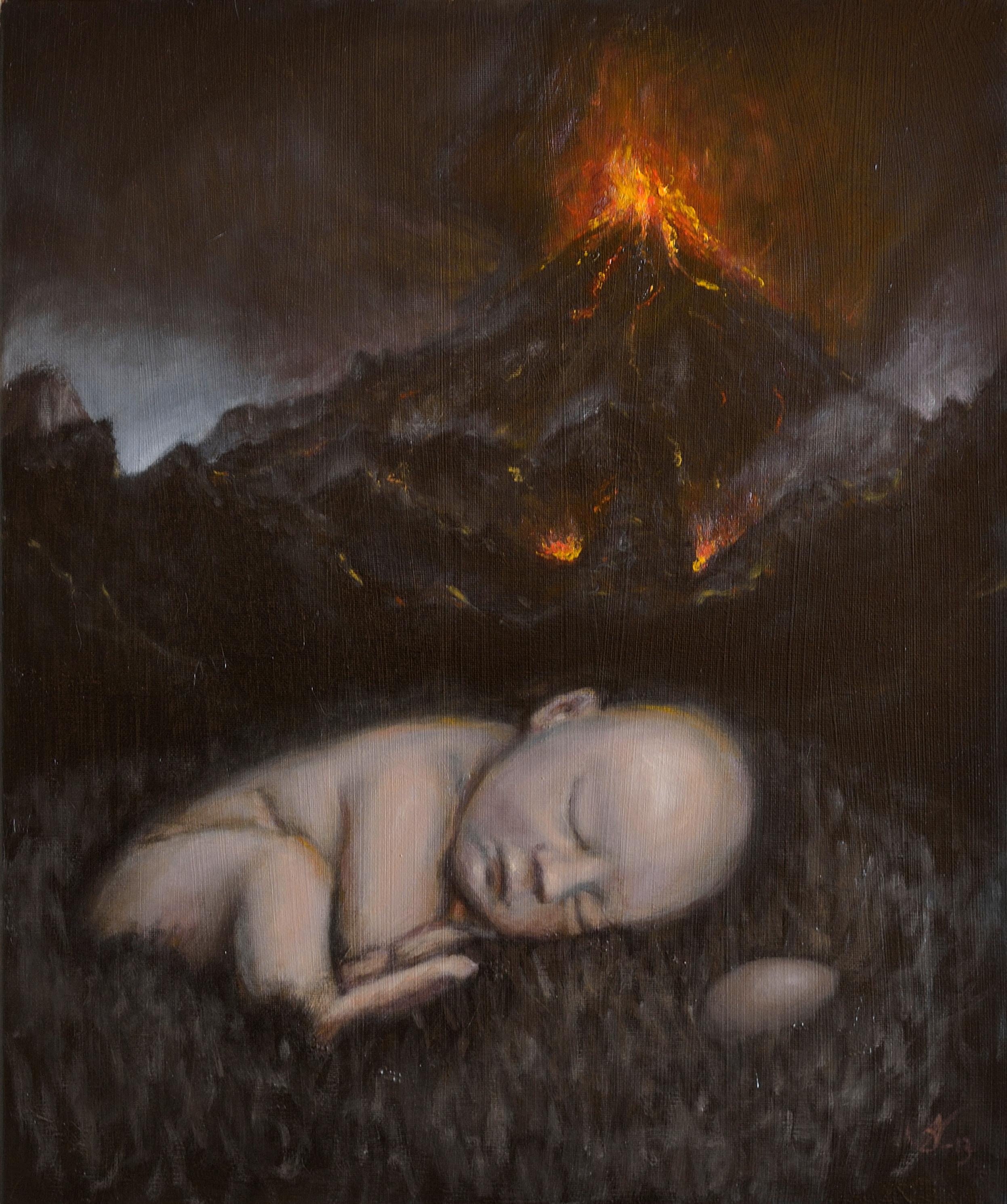 Baby, Egg, Volcano