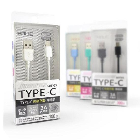 HOLiC TC003 Type C 充電線 傳輸線 快充線 1M
