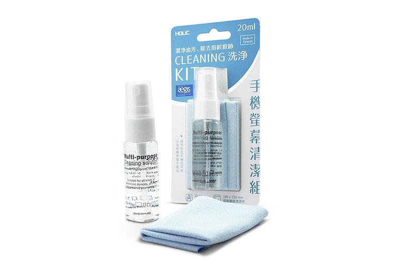 HOLiC 去污抗菌螢幕清潔組 擦拭布+清潔液