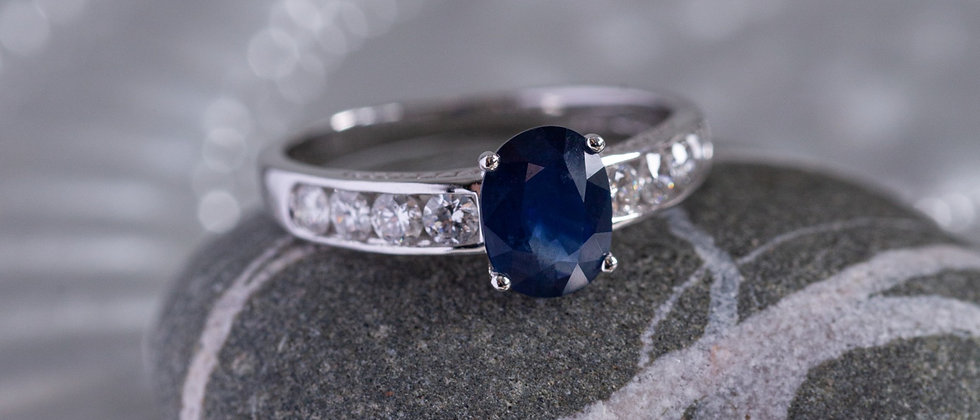 Sapphire & Diamond Dress Ring