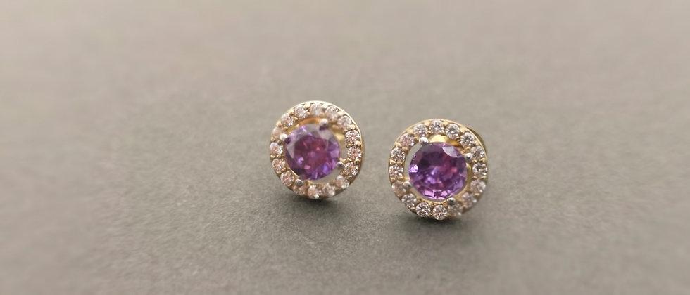 Amethyst style earrings