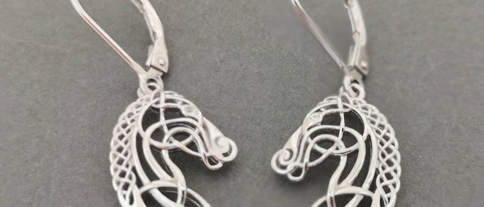 Horse filigree earrings